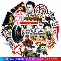 50PCS Supernatural Stickers Set Anime Toy Sticker For Luggage Skateboard Motorcycle Laptop Waterproof Sticker