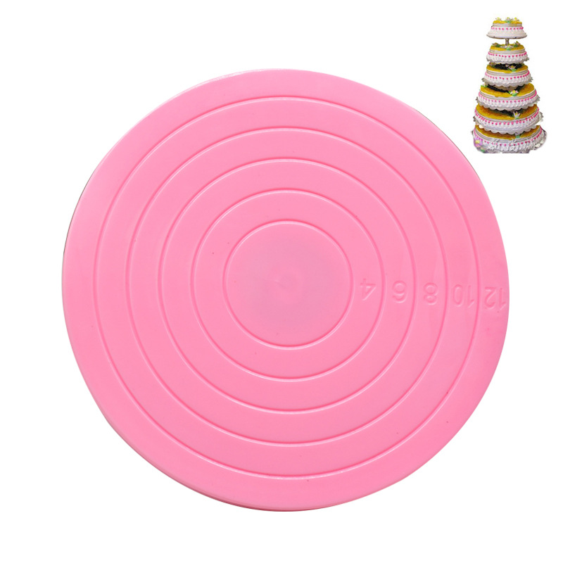 DIY Bakery Appliances 14 Cm Color Decorating Plastic Small Turntable Lightweight Stable Cake Turntable Decorative Turntable