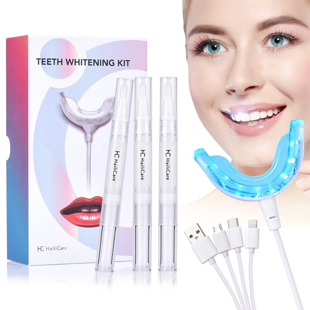 Teeth Whitening Kit Portable Smart Cold Blue Light Led Tooth Whitener Device Dental Whitening Gel Kit Teeth Bleaching Dropship On Aliexpress