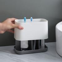 משחת שיניים אחסון רב חריץ מברשת שיניים מחזיק קוסמטיקה אבזרים המודרני ביתי אספקת בית מלון קל נקי באתר