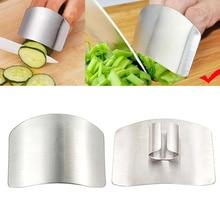 1 шт. защита для пальцев защищает пальцы от защита из нержавеющей стали нож для резки пальцев инструмент для защиты кухонных гаджетов