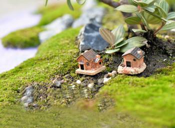 80 * Mini kamienny domek dla lalek żywiczne dekoracje na dom i ogród DIY na dom i ogród DIY Mini domek rzemieślniczy #45 tanie i dobre opinie CN (pochodzenie) 1 pc Podłogi TREE