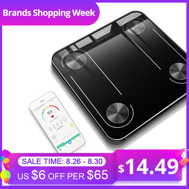 Bathroom Scale BMI Floor Body-Weight-Balance Smart LED Backlit Display Scientific Usb-Charging