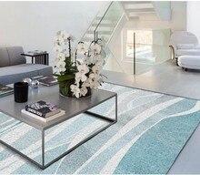 Modern minimalist fresh retro abstract gray blue pattern living room carpet floor 3d floor painting wallpaper abstract pattern floor mat