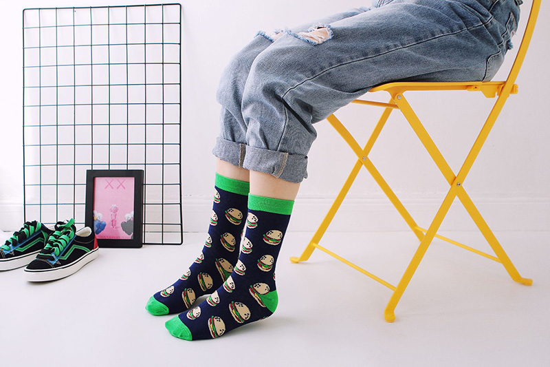 H407bb6aeed0343fb9707951868712898a - Women Happy Funny Socks With Print Art Cute Warm Winter Socks With Avocado Sushi Food Cotton Fashion Harajuku Unisex Sock 1 Pair