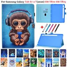 Funda tablet para samsung galaxy tab s7 caso impressão animal para galaxy tab s7 11 capa SM-T870 SM-T875 2020 11