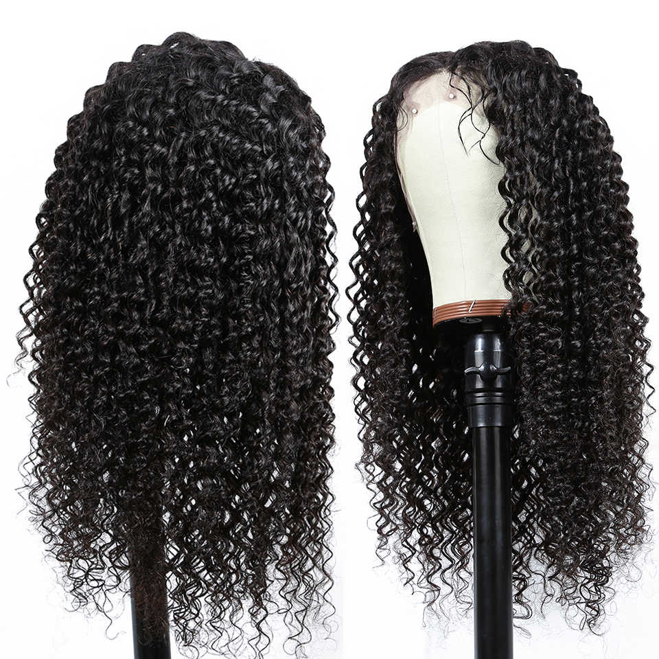 Pelucas de cabello humano con frente de encaje de 13x4 de Yyong con cabello de bebé pelucas frontales de encaje de cabello humano Remy de onda profunda India para mujeres de baja relación