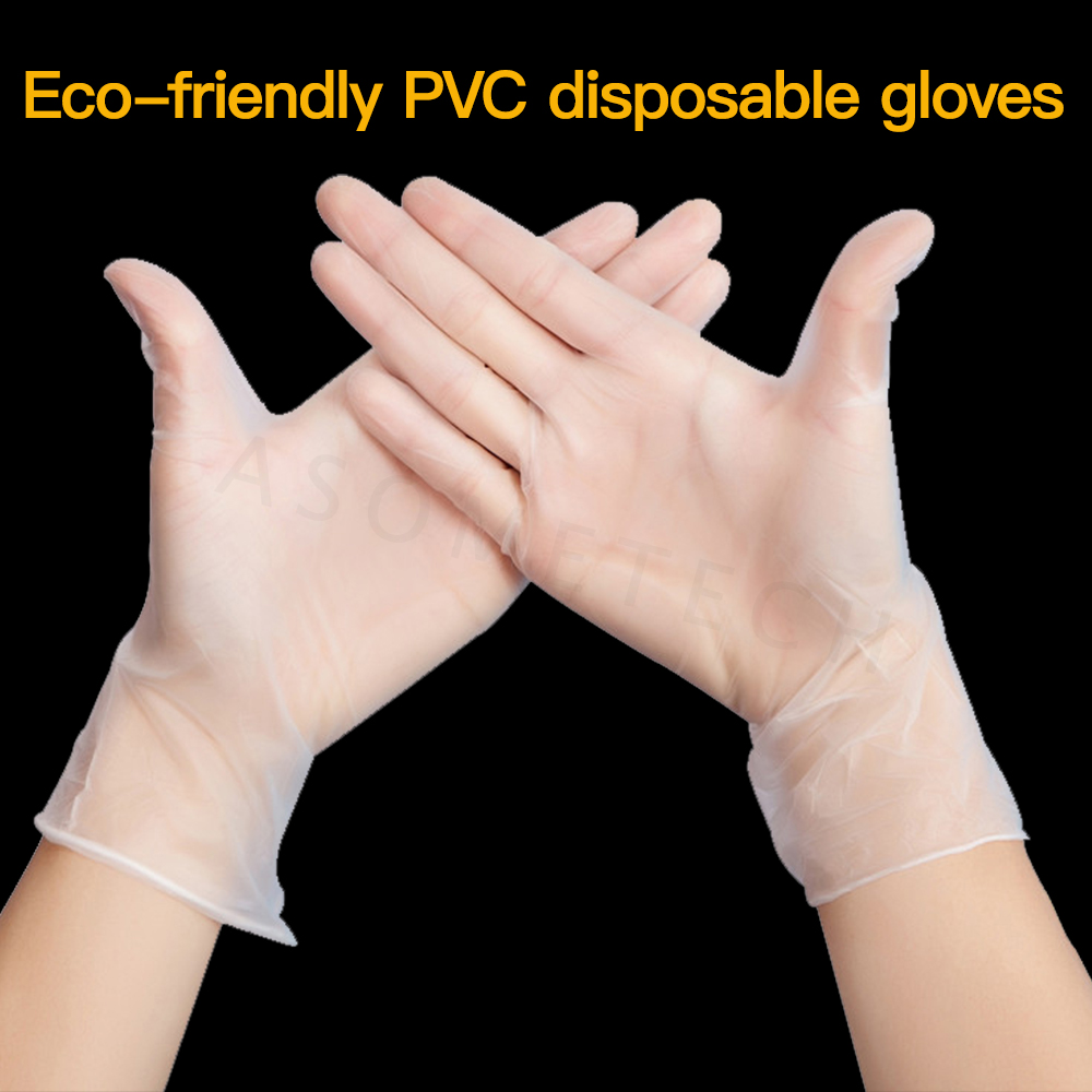 100pcs Anti Infection Safety Gloves Food Grade Waterproof Allergy Free Disposable Work Mechanic Glove Protective Gloves