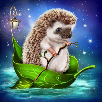 5D diy round/square Diamond Painting Cross Stitch Hedgehog Diamond Embroidery kits Diamond Mosaic home Decorative drill image