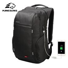 Kingsons mochila unissex impermeável, mochila impermeável unissex com tecnologia para laptop 13 15 17 Polegada e litros, ideal para viagens e escola saco do saco