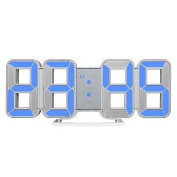 New Clock Watch 3d LED Wall Clocks Large Digital Date Time  Home Decoration Living Room Table Desktop Clocks 12/24 Hour Display 1