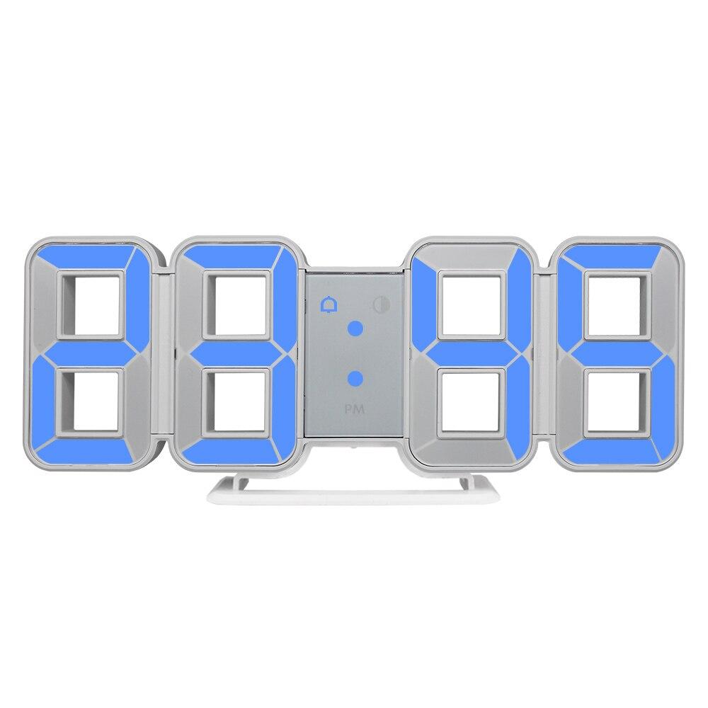 New Clock Watch 3d LED Wall Clocks Large Digital Date Time  Home Decoration Living Room Table Desktop Clocks 12/24 Hour Display