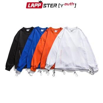 LAPPSTER-Youth Men Colorful Letter Print Sweatshirts 2020 Mens Oversized Streetwear Hoodie Male Korean Harajuku Hip Hop Hoodies