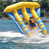 Free Shipping Inflatable Flying Fish Water Sea Games Floating Banana Boat 6persons/seats Kayak Inflable Towable Fishing Boat