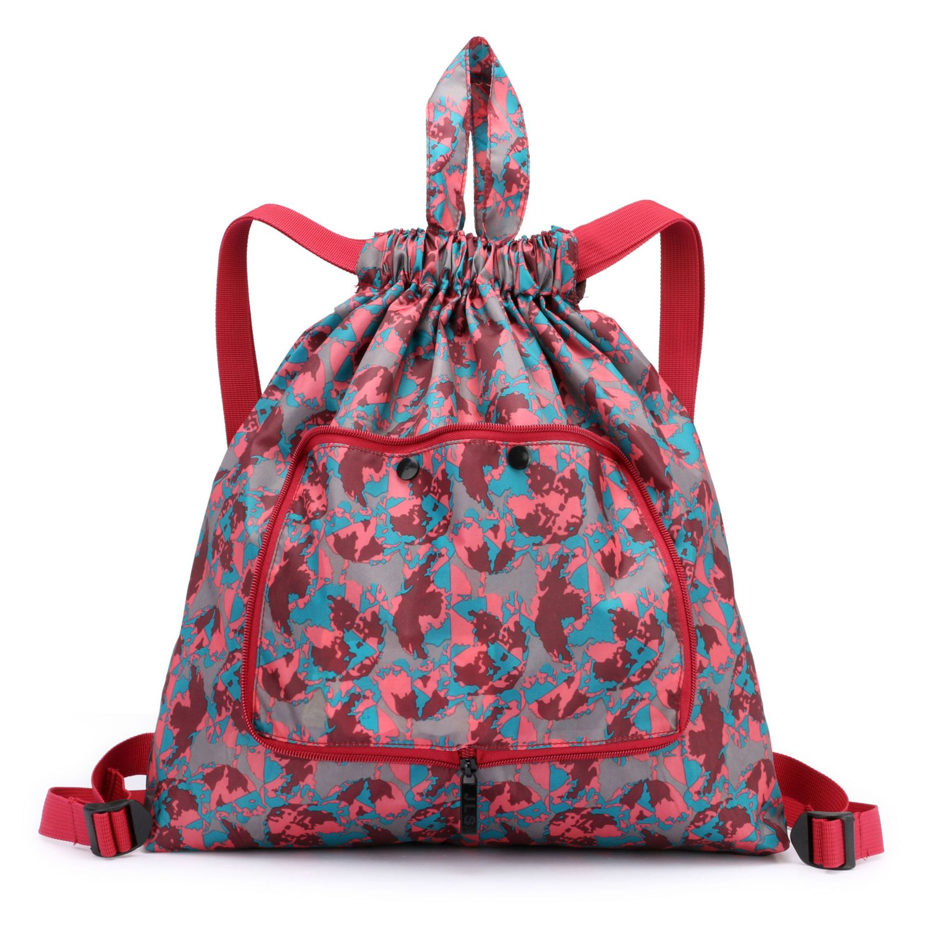 Women's Lightweight Backpack Waterproof And Foldable Storage Bag Sports And Fitness Drawstring Printed Backpack