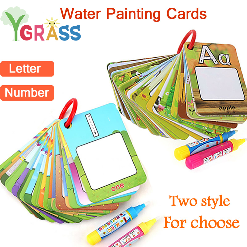 Magic Book Water Drawing Toys Painting Creation Coloring Board With Pens Kids Craft Antistress Games Children's Educational Toys