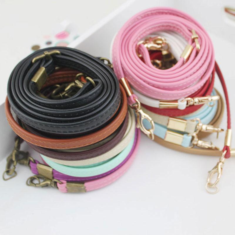 135cm Long Women Bag Strap Adjustable Handbag Handle PU Leather Strap Belts DIY Shoulder Straps For Bag Accessories Long Belts