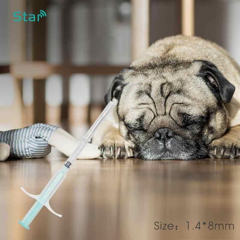 (10 sztuk/partia) 134.2khz 1.4*8mm zwierząt Pet Chip Microchip strzykawka FDX-B ISO11784/5 microchips RFID wtryskiwacz dla psa kot mysz pet