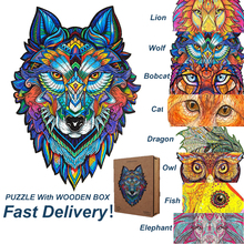 DIY Wooden Puzzle For Adults Children Each Piece Is Animal Shaped Christmas Gift Wooden Jigsaw Puzzle Improve Concentration