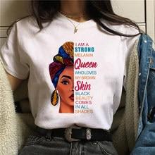 JE Suis UN Fervent Mélanine Reine T-shirt Femmes Vêtements Africaine Fille Noire le Mois de L'histoire des Femmes T-shirt Mélanine T-shirt, Livraison Directe