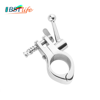 Stainless Steel 316 Jaw like Slide Awning Clamp with Quick Release Pin Bimini Top Hinged Slide Fitting Hardware Marine Boat|Fishing Tools| |  -