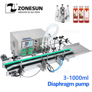 ZONESUN Full Automatic Desktop CNC Liquid bottle Filling Machine for water juice drink Perfume Bottle Water Making Machines photograph electric sensor for bottle water filling machine spare parts