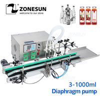 ZONESUN Full Automatic Desktop CNC Liquid bottle Filling Machine for water juice drink Perfume Filler