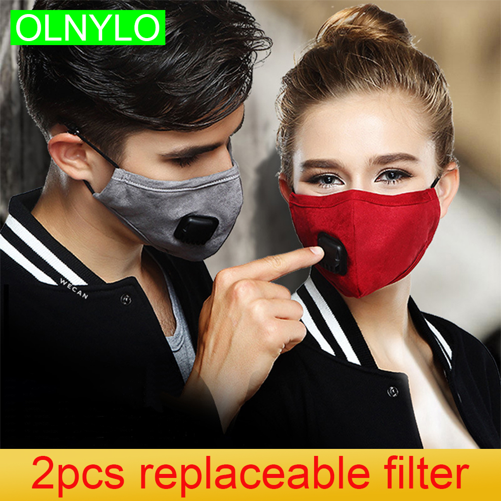 Mouth Mask Anti Dust Activated Carbon Filter Mouth-muffle PM2.5 KN95 Reusable Face Respirator Washable Bacteria Proof