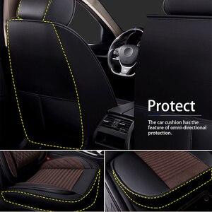 Image 2 - עור רכב פנים יוקרה פשתן מושב כיסוי מושב מכסה מחצלות אוניברסלי מגן מושב כיסוי אבזרים