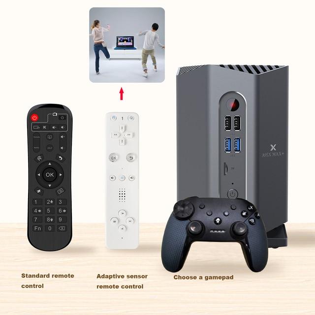 A95X 最大プラスゲームテレビボックスアンドロイド 9.0 Amlogic S922X 4 1GB の RAM/64 ギガバイト ROM 1000 メートル LAN メディアプレーヤー、ゲームパッド 2.4 グラムリモコン