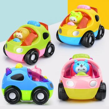 Children Cartoon Baby Car Set Model Drop Resistant Inertial Sliding Vehicle Toy Boys Girls Baby Birthday Surprises Funny Gift image