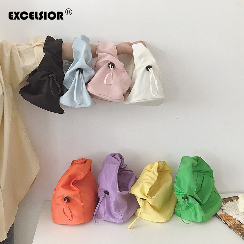 EXCELSIOR Simple Armpit Bag Retro Women's Bags 2020 New Small Handbag Colorful Baguette Bags For Female With Adjustable String