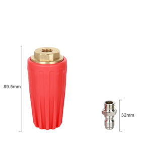 Image 3 - Auto Turbo Nozzle for Pressure washer water gun Outlet Fitting 360 degree Rotary 1/4  Quick Connect 5000 PSI ca accessories