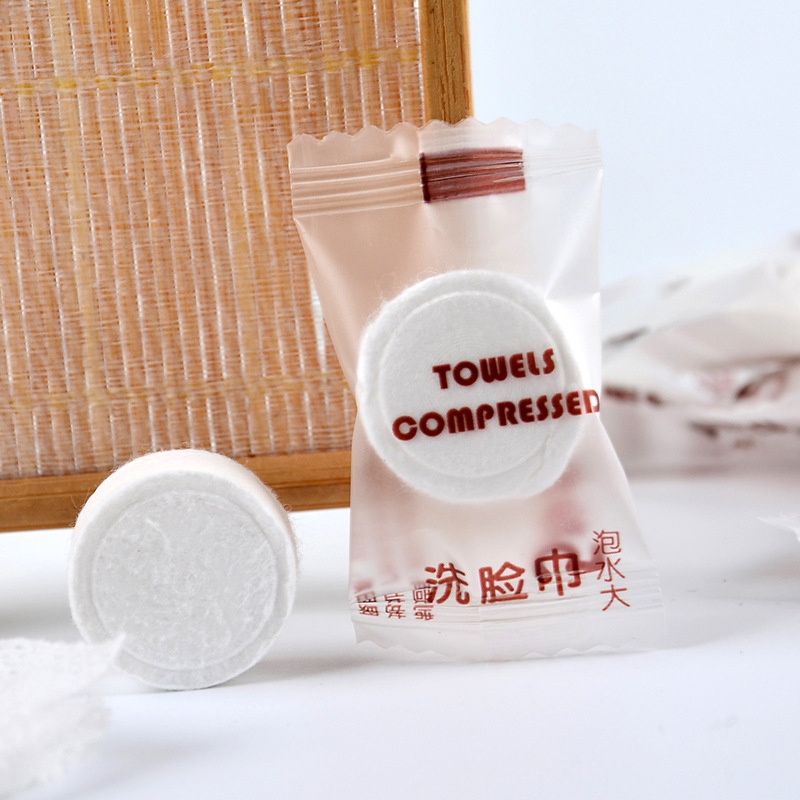 50 Disposable Cleansing Foams Portable Compressed Non woven Face Towel Cosmetics in Toiletry Kits from Beauty Health