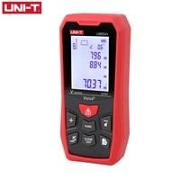 Telémetro láser de UNI-T, medidor de distancia, Regla de medición infrarroja de mano, pantalla de retroiluminación con voz LM50V +, regla electrónica