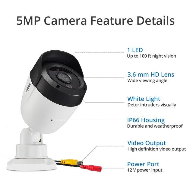 Фото sannce 5mp супер hd камера безопасности 4x 8x 100ft ночное видение цена