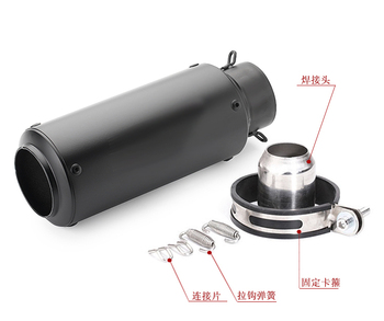 51/60mm Universal Motorcycle Exhaust Muffler for GP project Fit Most Motorbike for YAMAHA R25 R30 with DB killer