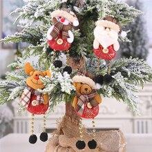 Christmas Ornaments Christmas Decorations for Home Santa Claus Doll Snowman Elk Christmas