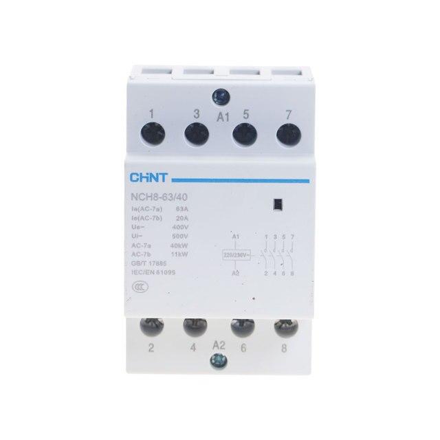 CHNT NCH8 63/40 4 Pole 63A 4NO su guida DIN contattori contattore per la casa modulare Modulare Contattore di CA
