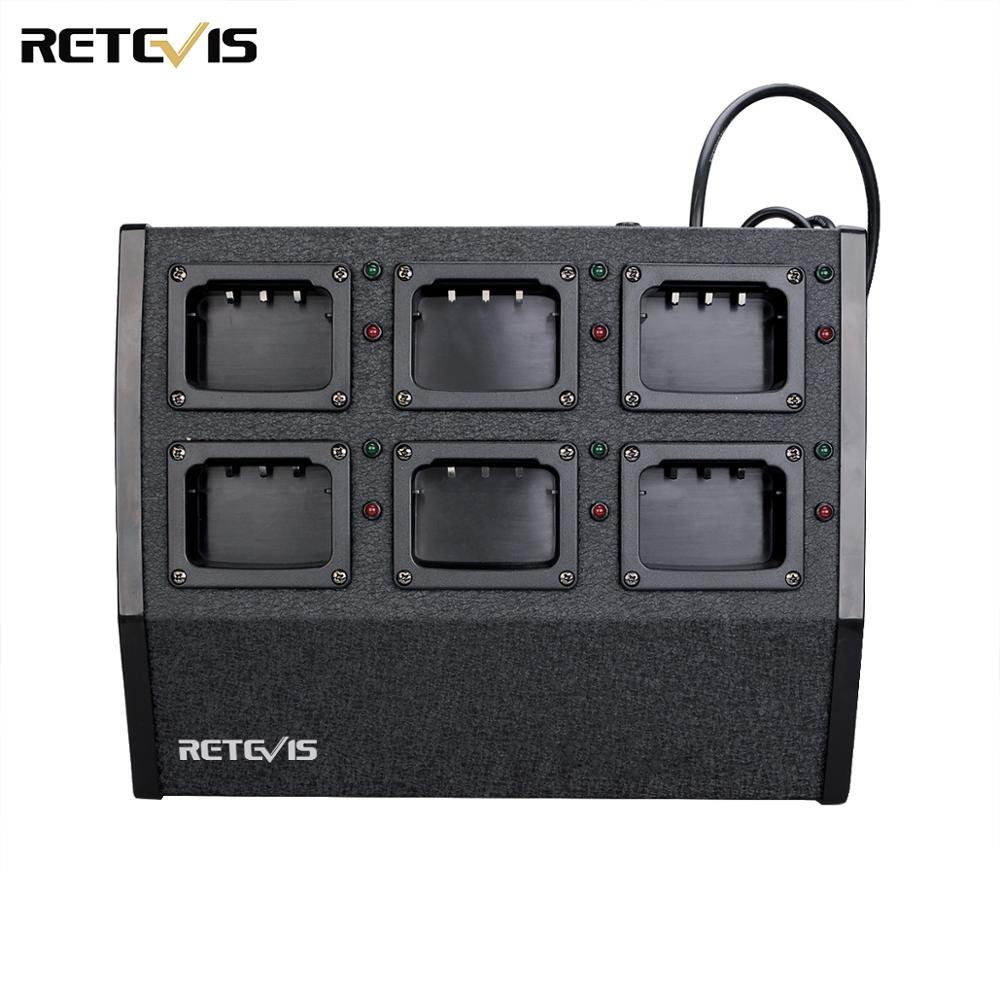 Retevis RTC29 Six-way Multi Unit Charger Walkie Talkies Charger Station For RT29 For HD1 Two-way Radios Accessories C9119A