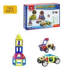 40 шт. Магнитная деталь 703a английский набор Детские развивающие сборные строительные блоки игрушки