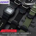 Классические черные холщовые часы для cso G-SHOCK DW-5600 DW6900 DW5035 ремешок для часов 16 мм