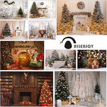 Allenjoy рождественские декорации камин дерево подарки фестиваль
