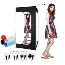 200cm x 120cm x 100cm Dimmable Photo Studio di Illuminazione Light Box Softbox Pieghevole Fotografia Sfondo Tenda di Ripresa kit