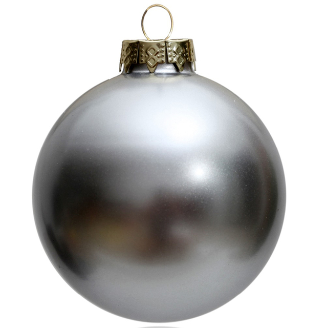 9 Pack 80mm Baubles White Christmas Tree Decoration