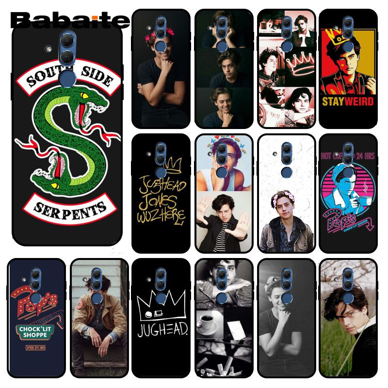 Babaite American TV <font><b>Riverdale</b></font> Jughead Jones Crown Phone <font><b>Case</b></font> for <font><b>Huawei</b></font> <font><b>Mate</b></font> <font><b>10</b></font> 20 <font><b>Lite</b></font> 20X Mate20 <font><b>10</b></font> Pro Mate9 Nova3 3i image