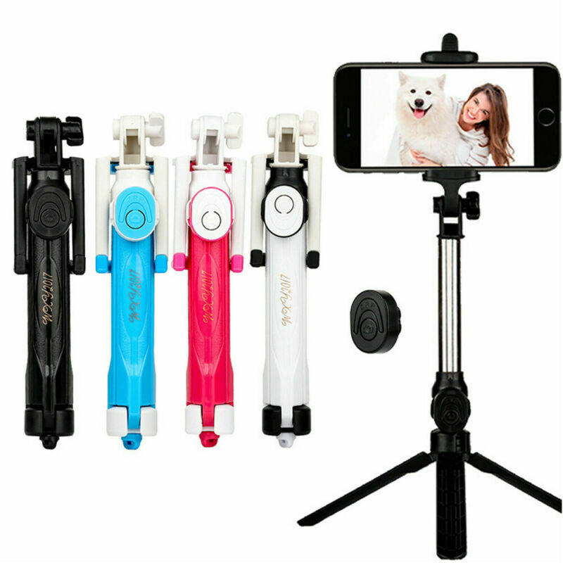 3 In 1 Wireless Bluetooth Selfie Stick For All Smartphones Foldable Handheld Monopod Shutter Remote Extendable Mini Tripod
