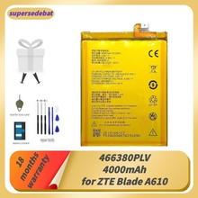 Supersedebat 466380PLV充電式電池zteブレードA610 A610C A610T BA610C BA610Tバッテリー4000mahスマートフォンbateriaの