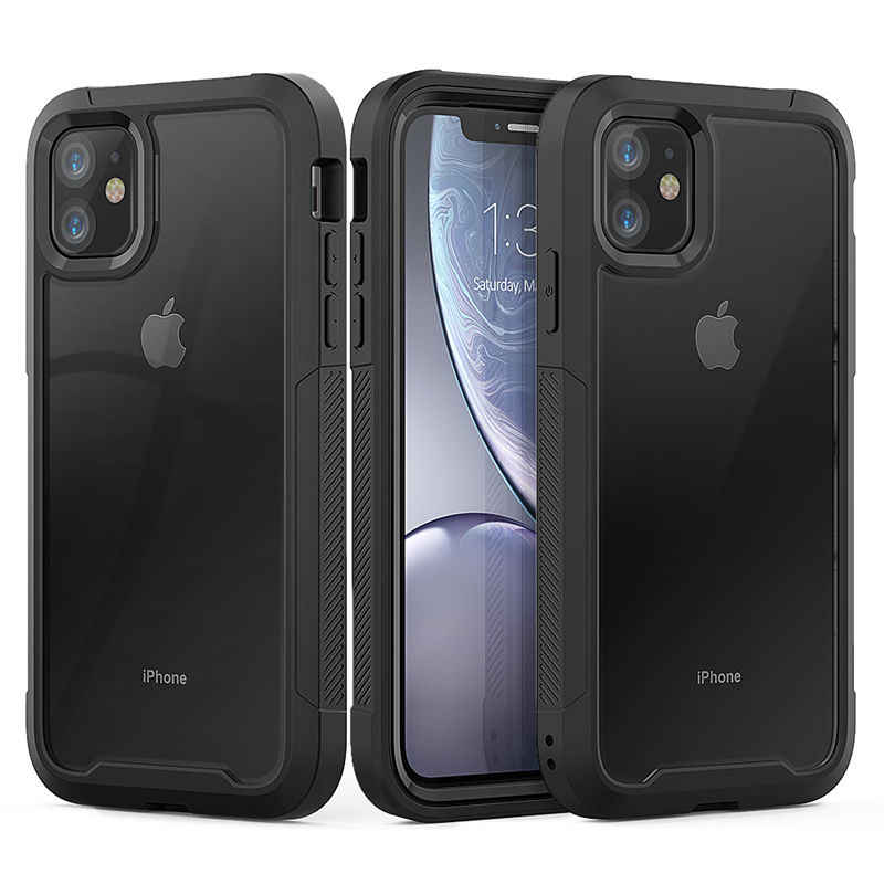 Voor Iphone 11 Xr Xs Max 8 7 Plus Shockproof Hybrid Armor Telefoon Case Voor Iphone 11 Pro Max 6 6S Plus Harde Pc Tpu 2 In1 Volledige Cover