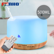 FUNHO 500ml Essential Oil Diffuser Remote Control Air Humidifier 7 LED Color Night Light Timing Humidification for Home Office цена и фото